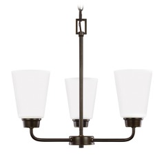 Sea Gull Lighting Kerrville 3-Light Mini Chandelier in Heirloom Bronze