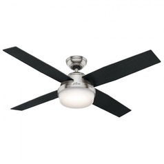 Hunter Fan Company Dempsey Brushed Nickel LED Ceiling Fan with Light