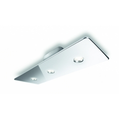 Modern LED Semi-Flushmount Light in Chrome Finish
