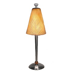 Accent Table Lamp with Porcelain Etched Shade