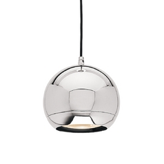 Mirrored Chrome Retro Ball Pendant