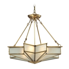 Art Deco Pendant Light Brass Decostar by Elk Lighting