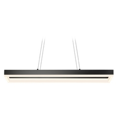 Sonneman Lighting Sonneman Lighting Corona Satin Black LED Pendant Light 2308.25