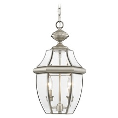 Livex Lighting Monterey Brushed Nickel Outdoor Hanging Light
