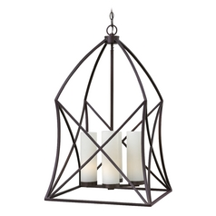 Hinkley Lighting Ravenna Spanish Bronze Pendant Light with Cylindrical Shade