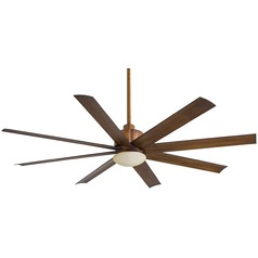 65-Inch Minka Aire Slipstream Distressed Koa Ceiling Fan with Light