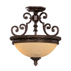 Savoy House Antique Copper Semi-Flushmount Light