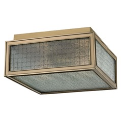 Freemont 2 Light Flushmount Light Square Shade - Aged Brass