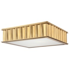 Hudson Valley Lighting Middlebury Aged Brass Flushmount Light