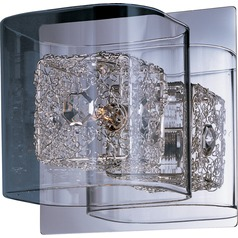 Gem Polished Chrome Sconce