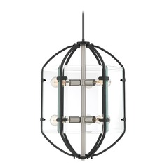 Industrial Pendant Light Black Vessel by Quoizel Lighting