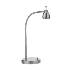 Adjustable LED Desk Lamp in Satin Nickel Finish - 5600K LED