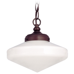 10-Inch Period Lighting Schoolhouse Mini-Pendant Light with Chain