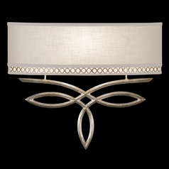 Fine Art Lamps Allegretto Silver Platinized Silver Leaf with Subtle Brown Highlights Sconce