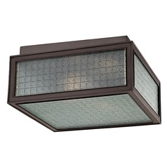 Freemont 2 Light Flushmount Light Square Shade - Old Bronze