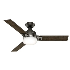 Hunter Fan Company Leoni Noble Bronze and Brushed Nickel LED Ceiling Fan with Light