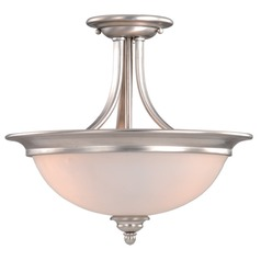 Avalon Brushed Nickel Semi-Flushmount Light by Vaxcel Lighting