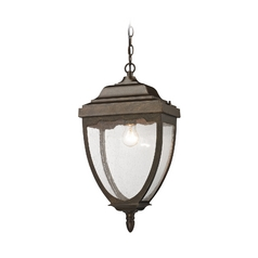 Outdoor Hanging Light with Clear Glass in Hazelnut Bronze Finish