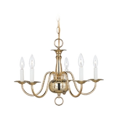 Mini-Chandelier in Polished Brass Finish