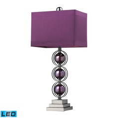 Dimond Lighting Purple, Black Nickel LED Table Lamp with Rectangle Shade