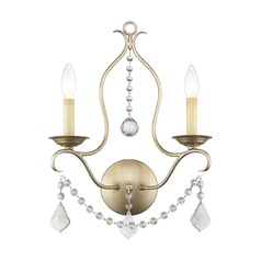 Livex Lighting Chesterfield Antique Silver Leaf Sconce