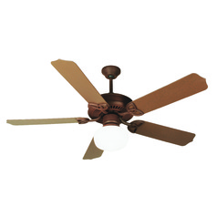 Craftmade Lighting Outdoor Patio Fan Rustic Iron Ceiling Fan with Light