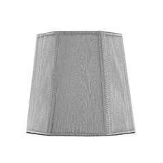 Clip-On Hexagon Silver Lamp Shade