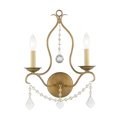 Livex Lighting Chesterfield Antique Gold Leaf Sconce