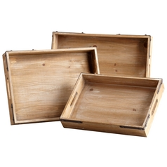 Cyan Design Staton Washed Oak Tray