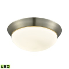 Alico Lighting Contours Satin Nickel LED Flushmount Light