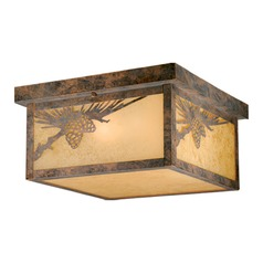 Whitebark Olde World Patina Outdoor Ceiling Light by Vaxcel Lighting
