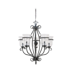 Sea Gull Lighting 5-Light Chandelier with Clear Glass in Weathered Iron
