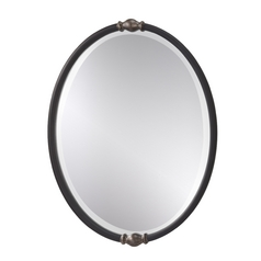 Feiss Lighting Jackie Oval 24-Inch Mirror MR1119BK/ASL