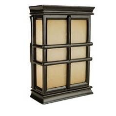 Craftmade Lighting Door Chime with Hand-Carved Window Pane Design CH1505-BK
