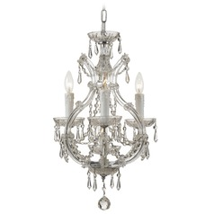 Crystorama Lighting Maria Theresa Chrome Crystal Chandelier