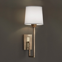 Norwell Lighting Maya Aged Brass Sconce