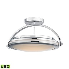Alico Lighting Quincy Chrome LED Semi-Flushmount Light