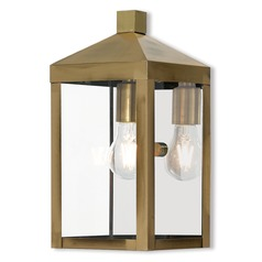 Livex Lighting Nyack Antique Brass Outdoor Wall Light