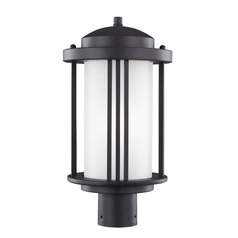 Sea Gull Lighting Crowell Black LED Post Light