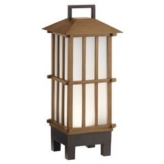 Kichler Lighting Davis Bamboo Wood LED Outdoor Table Lamp 250LM 3000K