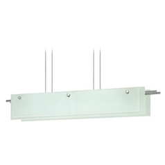 Sonneman Lighting Suspended Satin Nickel LED Pendant Light with Rectangle Shade
