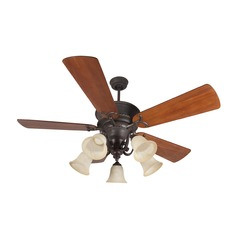 Craftmade Lighting Riata Aged Bronze Textured Ceiling Fan with Light