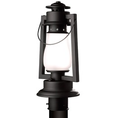 Rustic Lantern Post Light- Textured Black