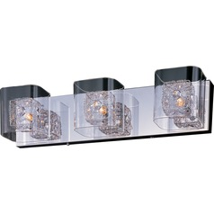 Gem Polished Chrome Bathroom Light