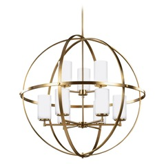 Sea Gull Lighting Alturas Satin Bronze Pendant Light with Cylindrical Shade