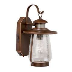 Seeded Glass Outdoor Wall Light Bronze Vaxcel Lighting
