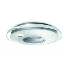 Modern LED Flushmount Light in Aluminium Finish