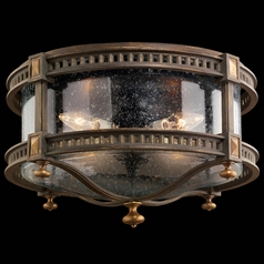 Fine Art Lamps Beekman Place Woodland Brown with Gold Highlights Close To Ceiling Light