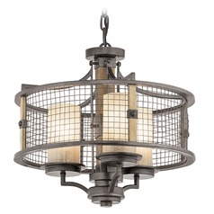 Kichler Ahrendale 3-Light Chandelier in Anvil Iron