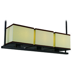 Maxim Lighting Tribeca Dark Bronze LED Island Light with Square Shade